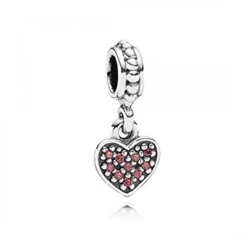 Pandora Pave Heart Red CZ