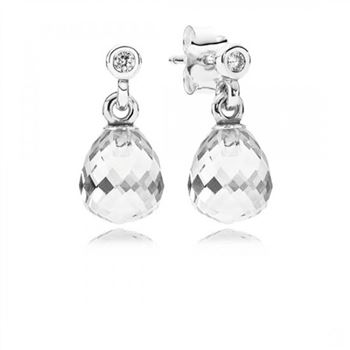 Pandora Geometric Drops Clear CZ
