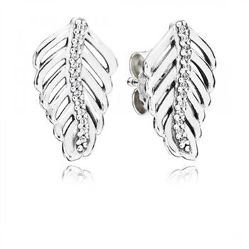 Pandora Shimmering Feathers Clear CZ