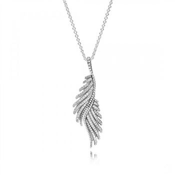Pandora Majestic Feathers Clear CZ