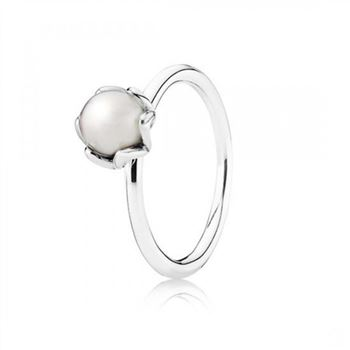Pandora Cultured Elegance Stackable Ring White Pearl