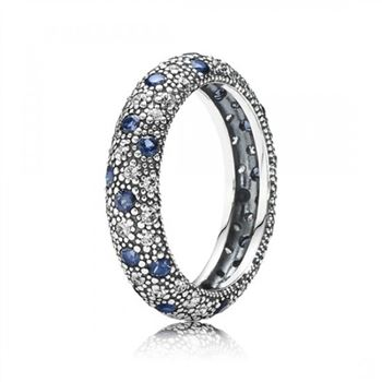 Pandora Cosmic Stars Stackable Ring Blue Crystal CZ