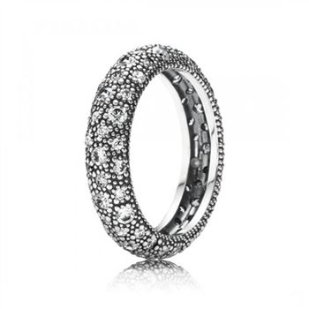 Pandora Cosmic Stars Stackable Ring Clear CZ