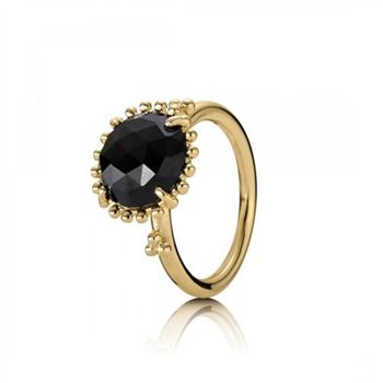 Pandora Shining Star Stackable Ring Black Spinel