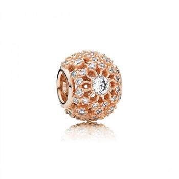 Pandora Inner Radiance Rose Clear CZ