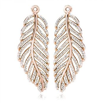 Pandora Light As A Feather Earring Charms Rose
