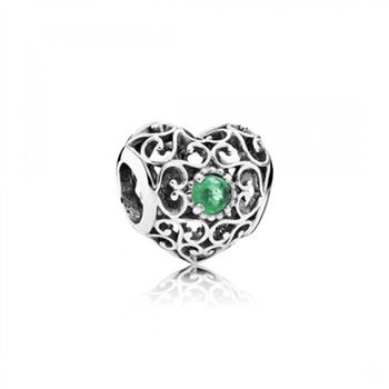 Pandora May Signature Heart, Royal Green Crystal