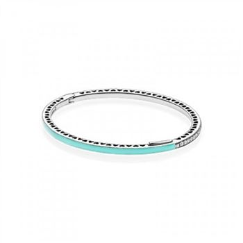 Pandora Radiant Hearts of Bangle Bracelet, Bright Mint Enamel &a