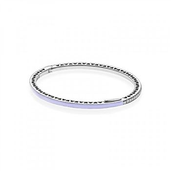 Pandora Radiant Hearts of Bangle Bracelet, Lavender Enamel &