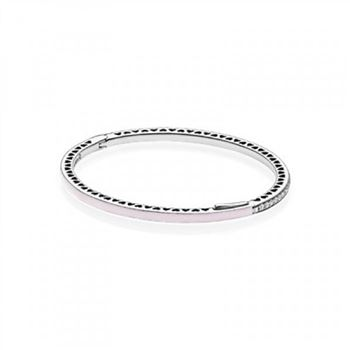 Pandora Radiant Hearts of Bangle Bracelet, Light Pink Enamel &am