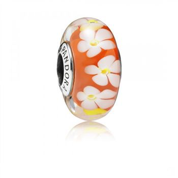 Pandora Tropical Flower Murano Glass
