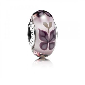 Pandora Pink Butterfly Kisses Murano Glass