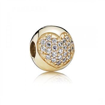 Pandora Love Of My Life Clip Clear CZ 14K Gold