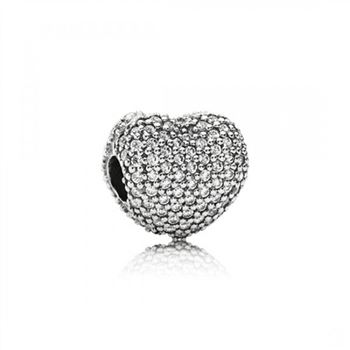Pandora Pave Open My Heart Clip Clear CZ
