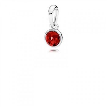 Pandora July Droplet Synthetic Ruby